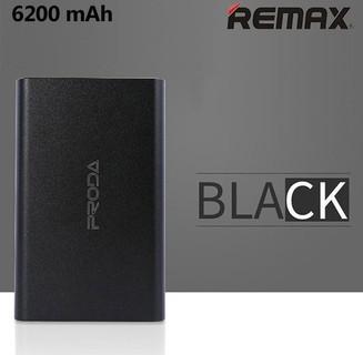 Remax Proda Jane 6200mAh Slim Metal Portable Power Bank - Black