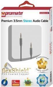 Promate linkMate-A1 Premium 3.5mm flexShied PVC coated copper Audio Cable - Black