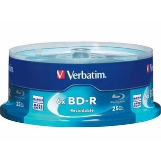 Verbatim 6x Blu-ray Single Layer Recordable Disc 25 GB BD-R, 25-Disc Spindle