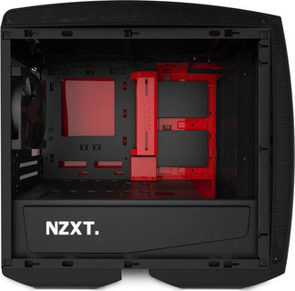 NZXT computer case Manta Black Red with window