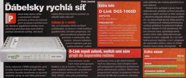 D-Link 5 Port 10/100/1000 Gigabit Desktop Switch DGS-1005D