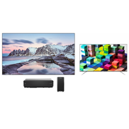 هايسنس 100u0026quot ؛ تلفزيون ثنائي اللون ليزر 4K + تلفزيون Hisense 75 4K مجانًا مع حامل جداري