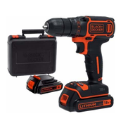 Black u0026amp; Decker BDCDC18KB-B5 Drill Driver 18V with 400mA Charger in a Kitbox 2 Lithium Batteries