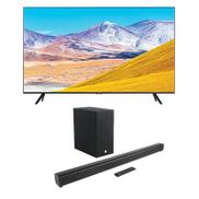 Samsung 55u0026quot; TU8000 Crystal UHD 4K Flat Smart TV 2020 + JBL Cinema 2.1 Channel Soundbar Speaker with Wireless Subwoofer Home Audio - Black