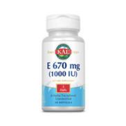 KAL Vitamin E 670mg, 1000 IU, 30 Softgels