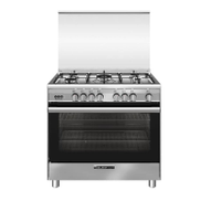 Glem Gas Stainless Steel Gas Cooker, 9060, 5 Burners, Full Safety - GLSB9634RI01CU