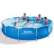 Bestway 56415-T Steel Pro Metal Frame Round Pool , 366 x 366 x 76 cm