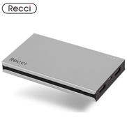 Recci Turbo Dual USB Power Bank 8000 mAh - Silver