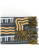 Undercover striped scarf