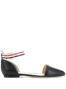 Thom Browne ankle strap ballerinas
