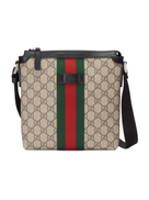 Gucci Web GG Supreme flat messenger bag
