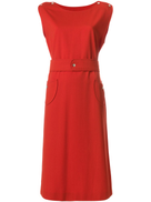 Courrèges Pre-Owned belted midi dress