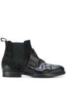 Ink contrast chelsea boots