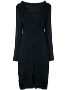 Gucci Pre-Owned pleated longsleeved midi dress