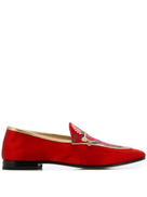 Fabi floral embroidery loafers