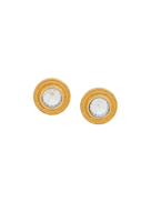 Givenchy Pre-Owned 1980s round crystal earrings