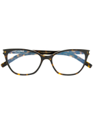 Saint Laurent Eyewear round tortoiseshell glasses
