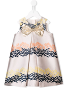 Hucklebones London bow floral embroidered dress