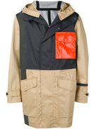 Closed panelled parka