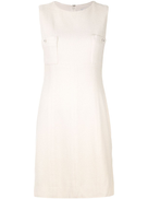 Chanel Pre-Owned patch pocket shift dress