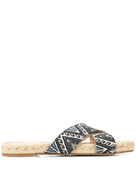 Solange printed twill sandals