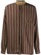 قميص مخطط Versace Pre-Owned 1980's