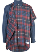 Mostly Heard Rarely Seen overlapping checked shirt