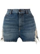 Saint Laurent ripped denim shorts
