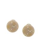 Chanel Pre-Owned logo clip-on earrings