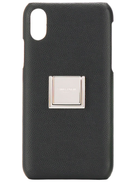 Saint Laurent logo pebbled IPhone X case