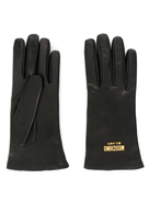 Moschino logo plaque gloves