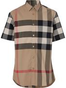 Burberry classic check short sleeved shirt