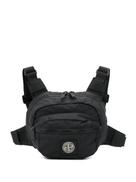 Stone Island logo embroidered belt bag