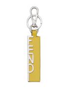 Fendi rectangular logo lettering keyring