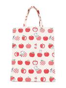 Familiar apple print shopper tote