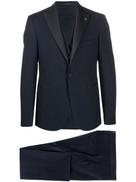 Tagliatore satin panel suit set