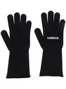 Vetements logo knitted gloves