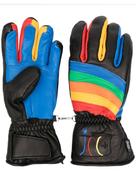 Rossignol rainbow detail sheepskin gloves