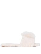 Aquazzura Foxy pom-pom slippers