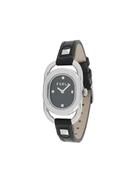 Furla studded oval face watch