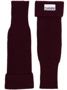 GANNI ribbed-knit fingerless gloves