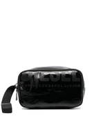Diesel logo print make-up bag