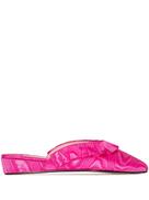 Olivia Morris At Home Blossom frill-edge slippers