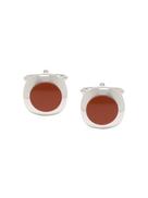 LANVIN two-tone design cufflinks