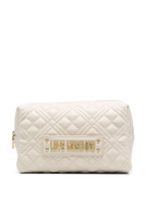 Love Moschino diamond quilted make up bag