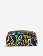 Seletti wears Toiletpaper snake-print faux-leather case 20cm x 7cm