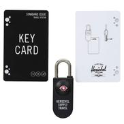Herschel TSA Card Lock Travel Kit 3pc Set Black