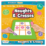 Fiesta Crafts Noughts Crosses Stickabouts Game 11pcs