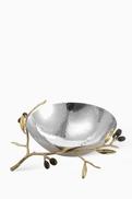 Michael Aram Medium Golden Olive Branch Serving Bowl