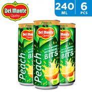 Delmonte Juice Drink w Real Bits Peach 6 x 240 ml